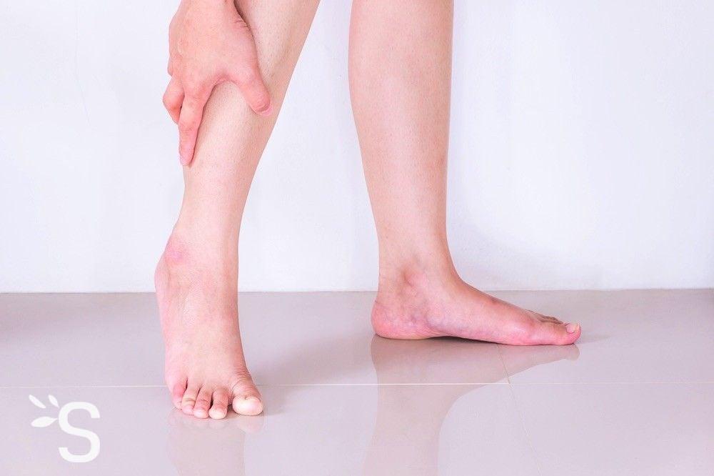 fourmillements dans les pieds